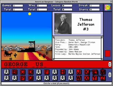 Screenshot 1 for American Hangman - Presidents & States