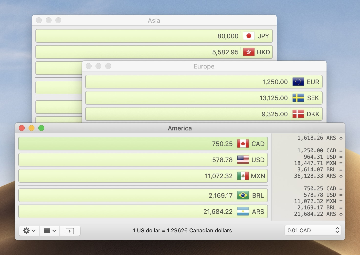 Screenshot 1 for Currency Assistant