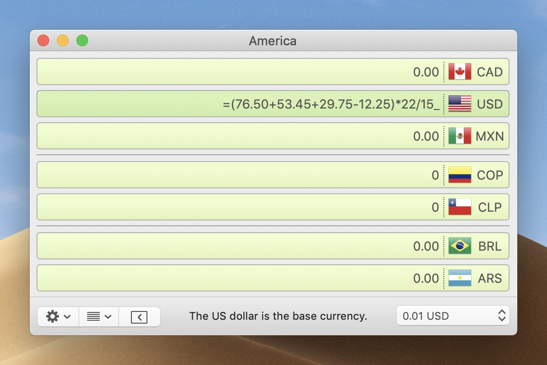 Screenshot 2 for Currency Assistant