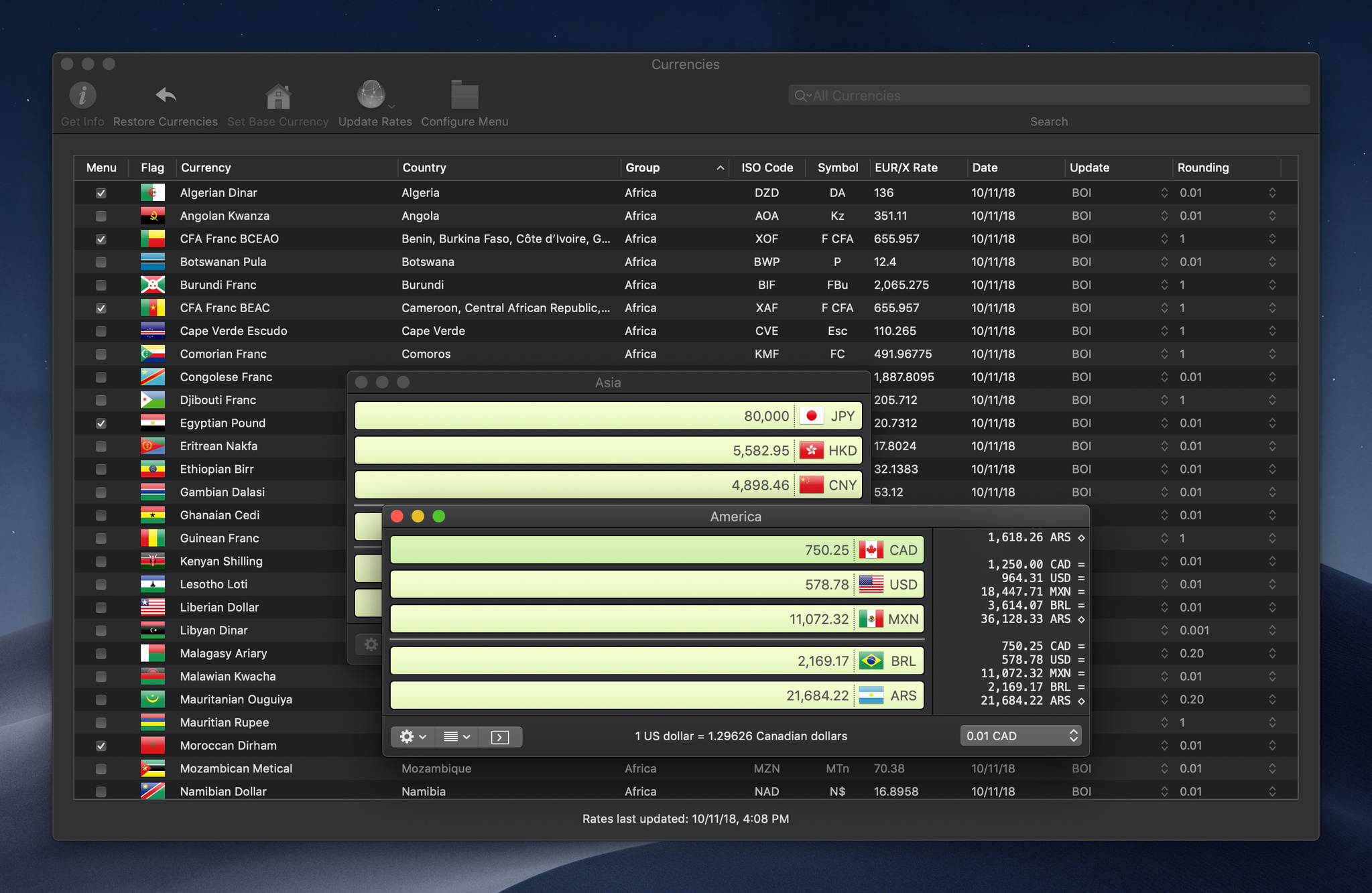Screenshot 4 for Currency Assistant