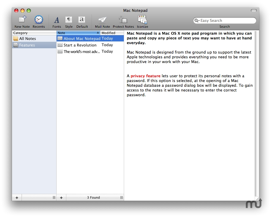 Screenshot 1 for Apimac Notepad
