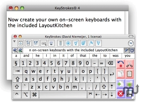 Screenshot 1 for Keystrokes