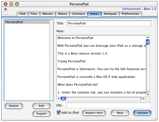 Screenshot 1 for PersonaPodX