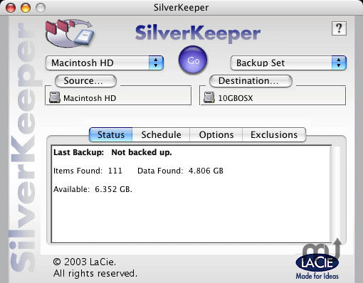 Screenshot 1 for LaCie SilverKeeper