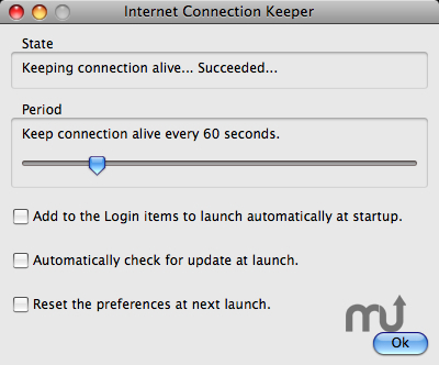 Screenshot 1 for Internet Connection Keeper