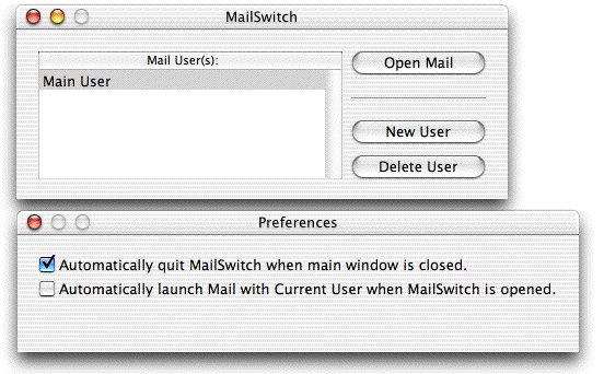 Screenshot 1 for MailSwitch