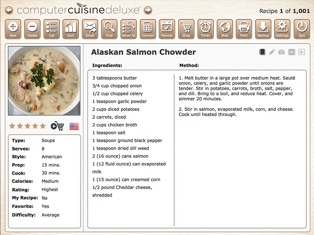 Screenshot 1 for Computer Cuisine Deluxe