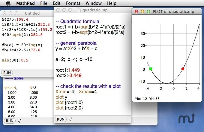 Screenshot 1 for MathPad