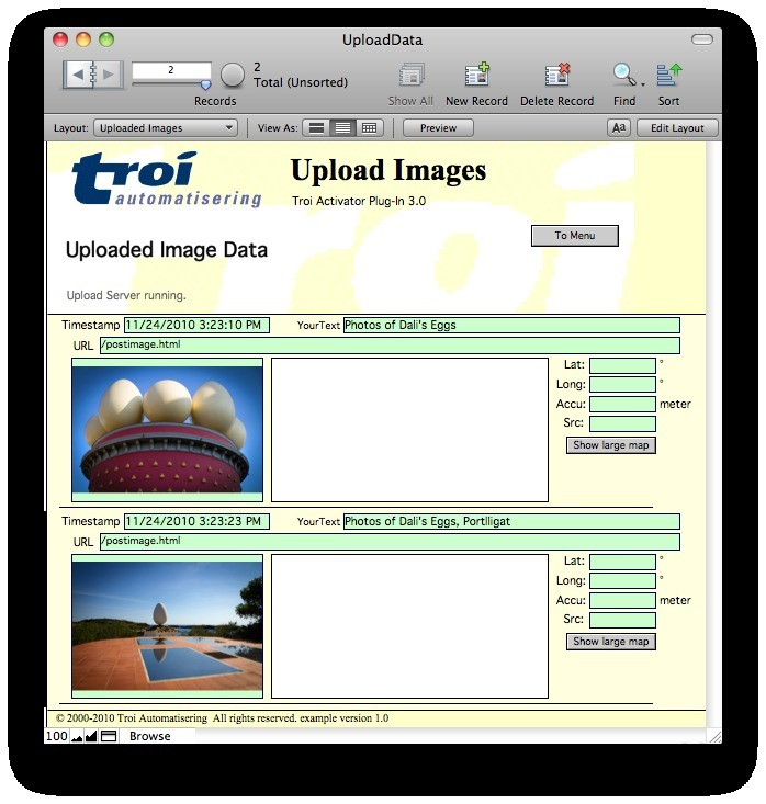 Screenshot 1 for Troi URL Plug-in