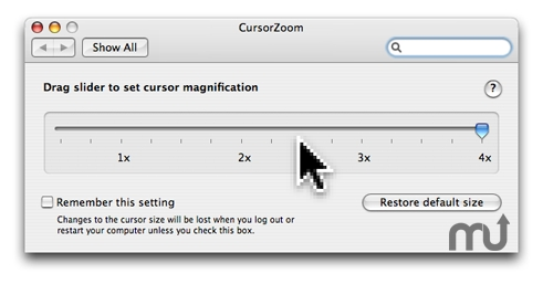Screenshot 1 for Cursor Zoom
