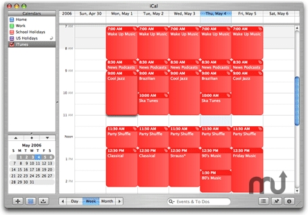 Screenshot 1 for iCal Calling iTunes!