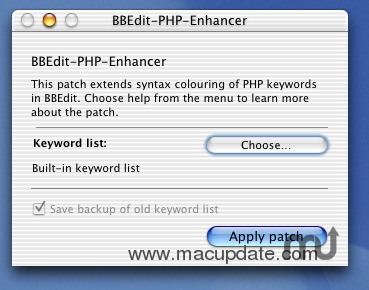 Screenshot 1 for BBEdit-PHP-Enhancer