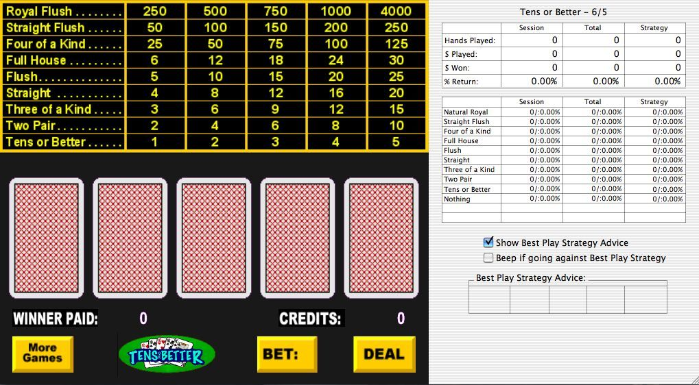 Screenshot 1 for Dons Video Poker