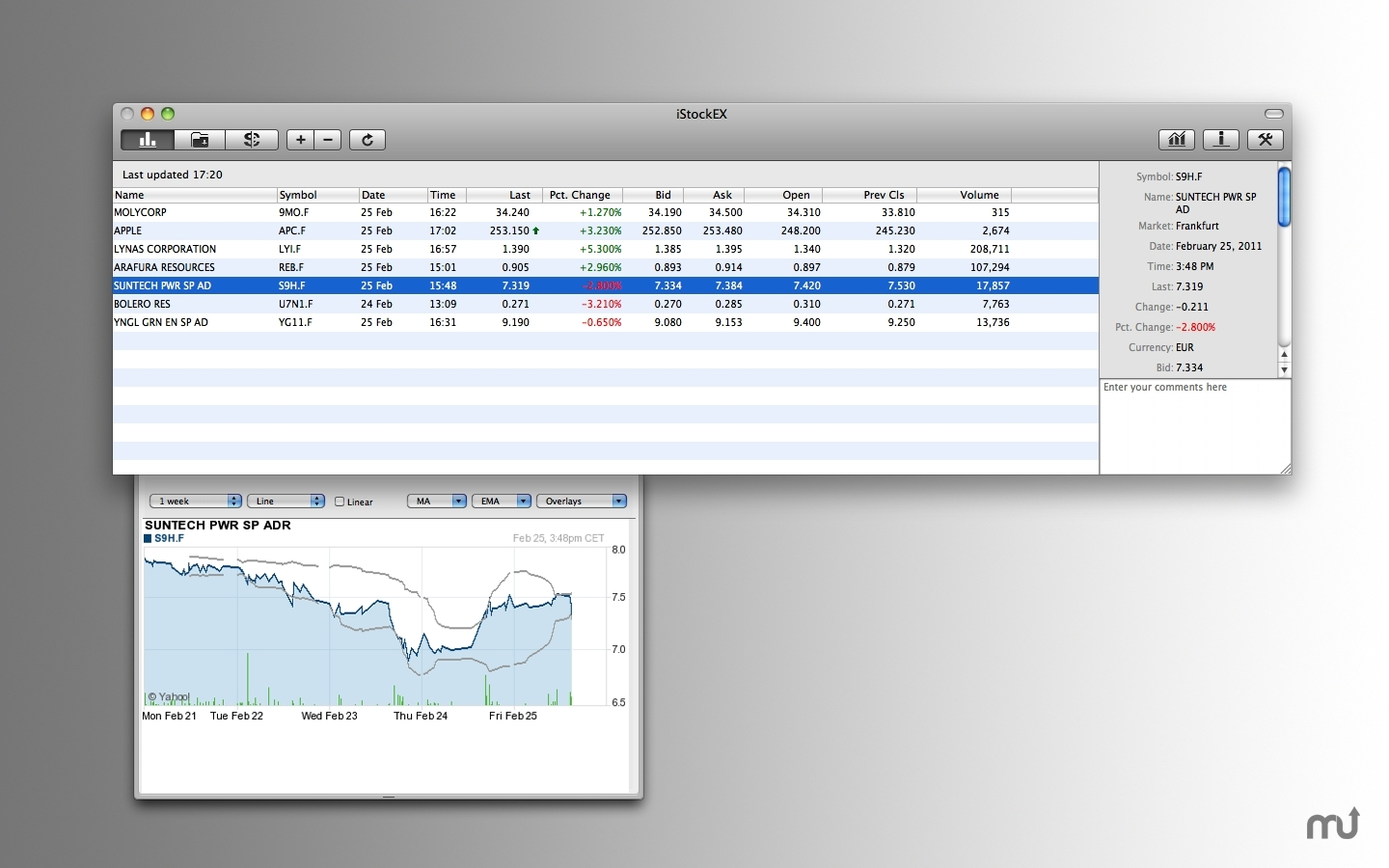 Screenshot 1 for iStockEX