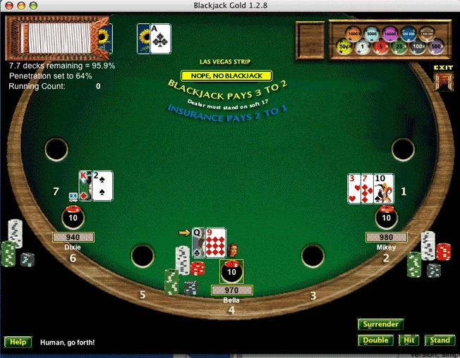 Screenshot 1 for Blackjack Gold