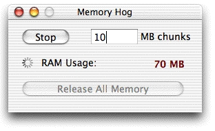 Screenshot 1 for Memory Hog